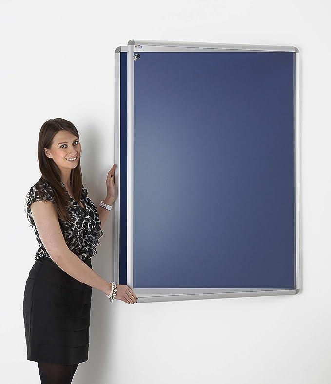 Tablero de anuncios con cubierta con cerradura de seguridad, color ...