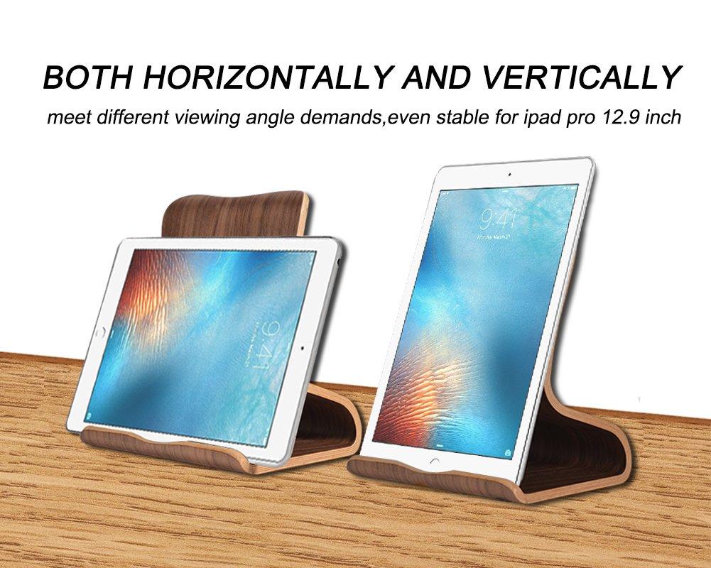 Amazon.com: SAMDI Wood Tablet Stand, Wooden iPad Holder: Desktop ...