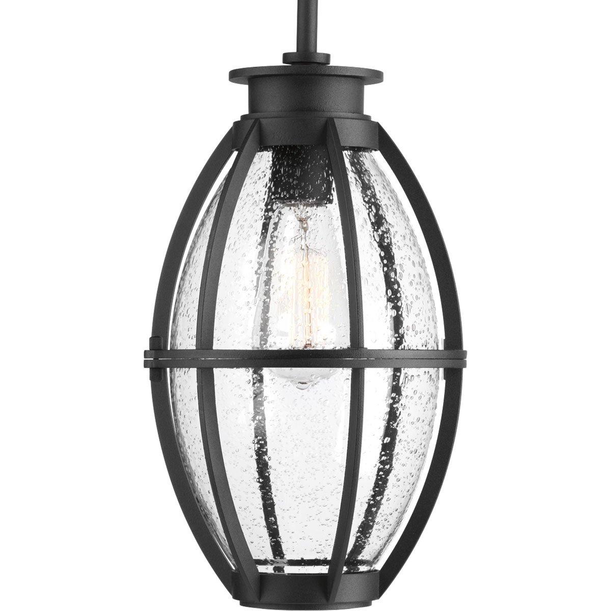 Progress Lighting P550005-031 Pier 33 One-Light Hanging Lantern Black