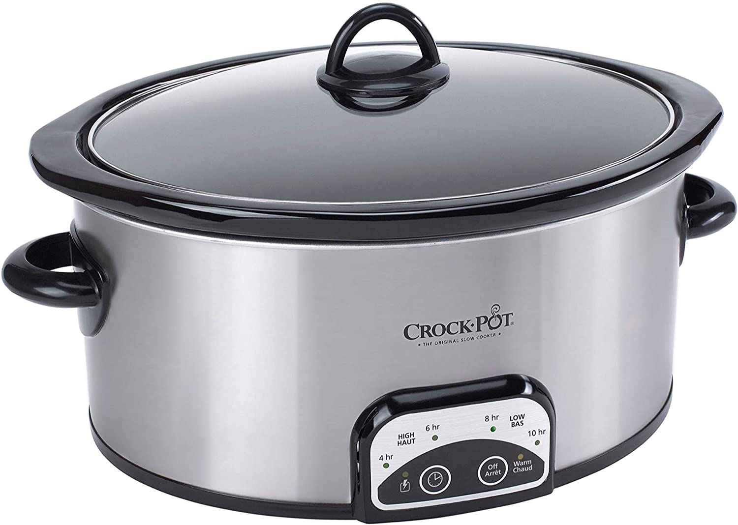 Crock-Pot 4-Quart Smart-Pot Programmable Slow Cooker, Silver