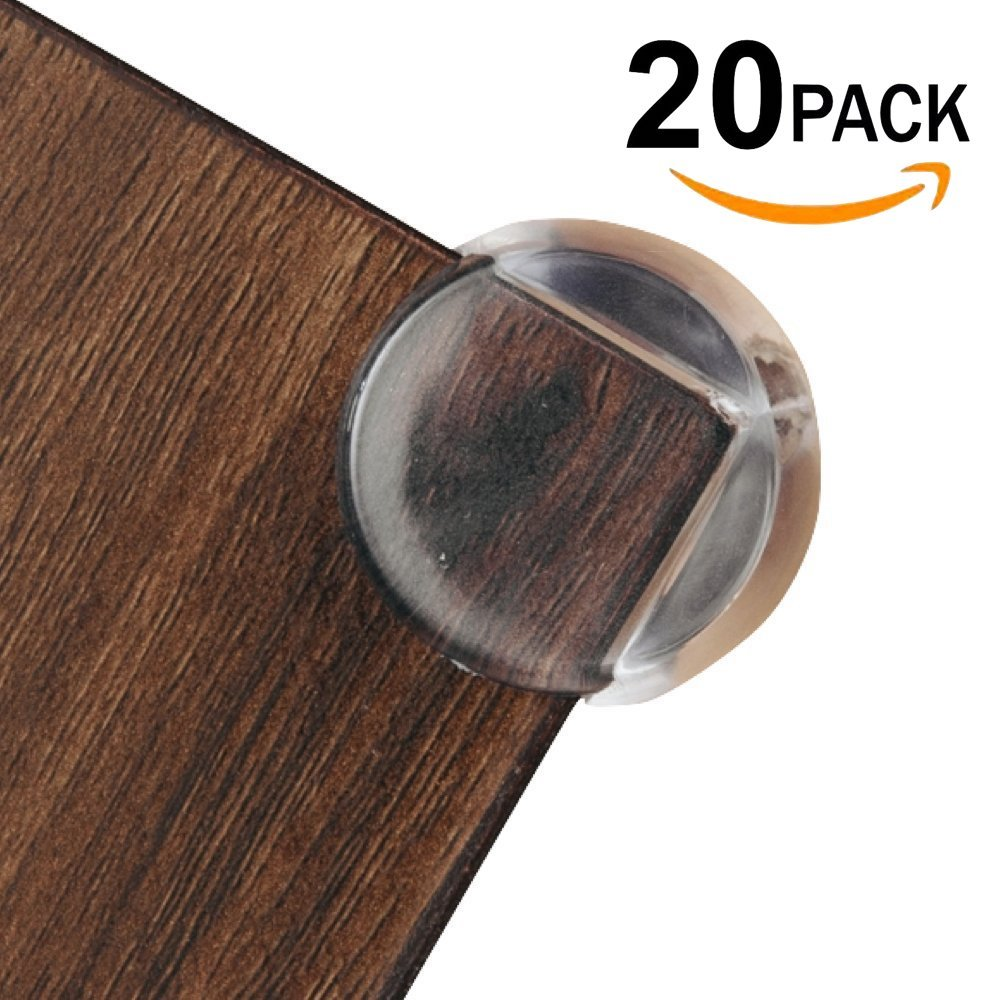 Corner Protectors 8-Pack, The Original Clear Corner Guards - for Child Proofing Coffee & Dining Tables - Transparent, Baby Proof Safety Bumpers! Protective Cushions for Sharp Furniture! (8 Pack) The Hamptons Baby