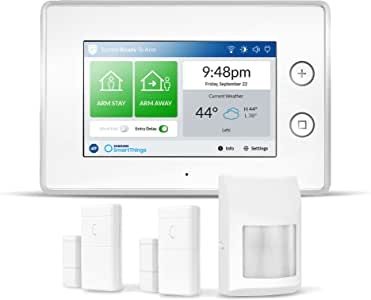 Samsung SmartThings ADT Wireless Home Security Starter Kit with DIY Smart Alarm System Hub, Door and Window Sensors, and Motion Detector