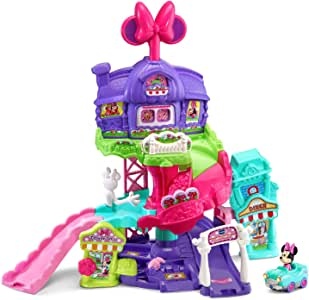 VTech Go! Go! Smart Wheels - Disney Minnie Mouse Around Town Playset,Pink
