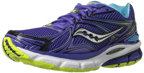 3f4dee98 Saucony Women's Hurricane 16 Running Shoe,Purple/Blue/Citron,11.5 M ...