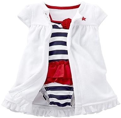 963ae89d3c701 Amazon.com: Carter's Baby Girls' 2 Piece 4th of July Swim Set (Baby ...