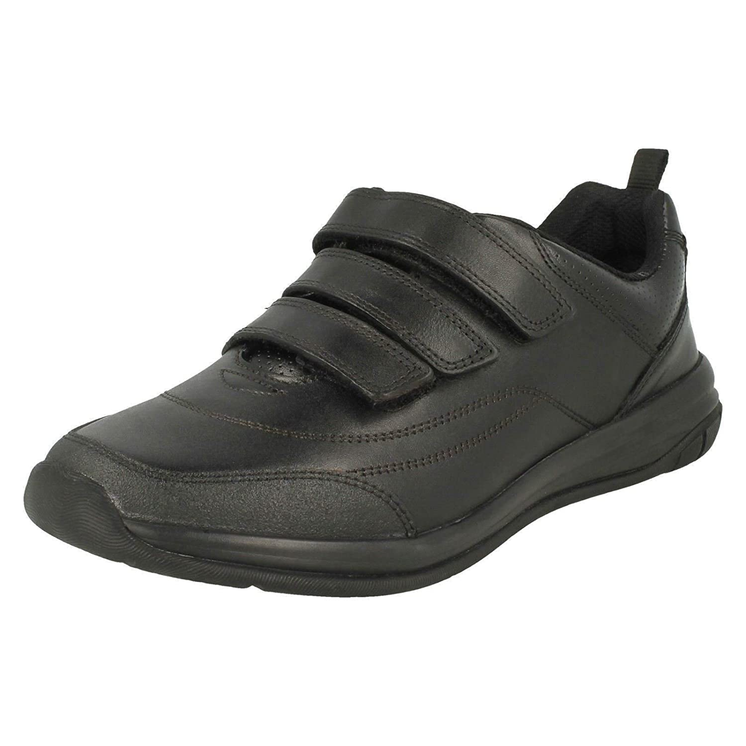 Clarks 3491-06F Hula Thrill Black Leather Kids School Shoes
