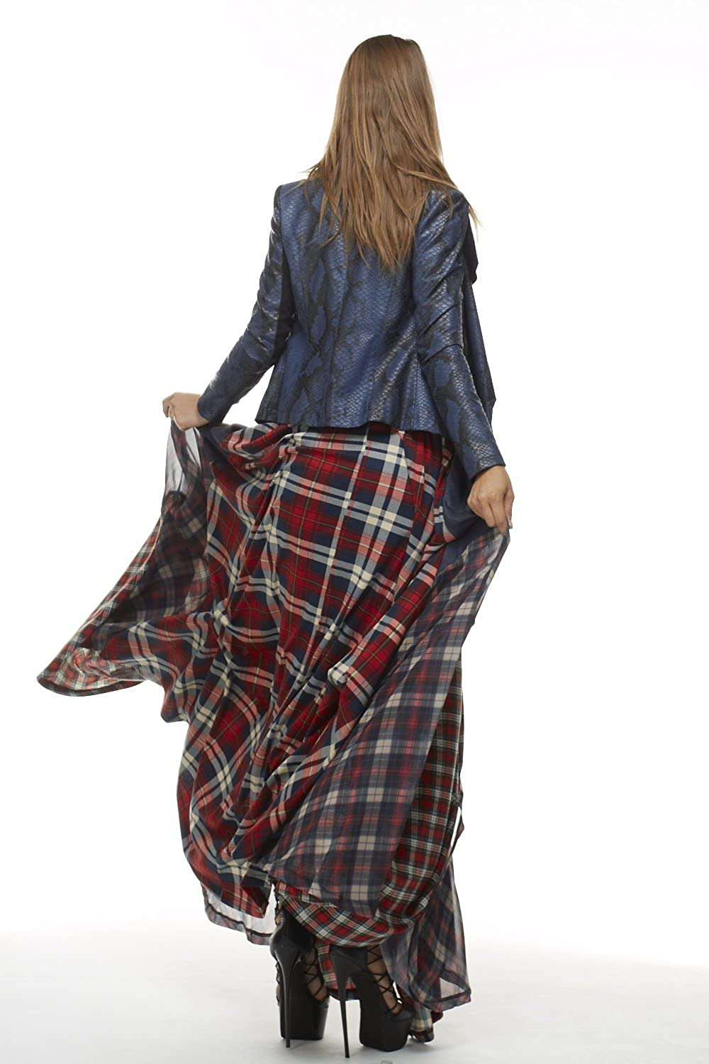 d538633654 TOV The Damsel`s Plaid Maxi Skirt Punk Princess Pick Up Pleats (44, Red  Plaid) at Amazon Women's Clothing store: