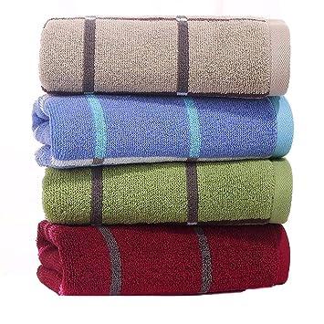 LOF-fei Toallas de Lavabo/Toallas de Mano de Ducha Pareja Adulta Suave Gasa/algodón toallitas súper Absorbente Baño de la hogar,Paquete de 4, ...