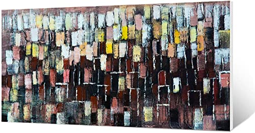 DILALIE 30x60inches 100 Hand Painted Oil Painting Abstract Wall Art Oil Painting Framed Art Wall Decor, Large Wall Art for Living Room