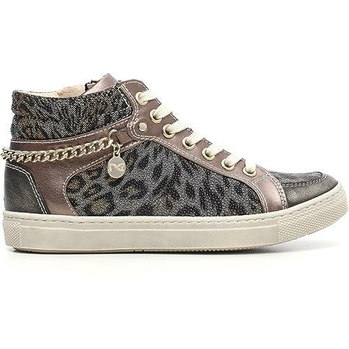 Nero Giardini Junior Sneaker Bambina in Pelle Tessuto A631700F - 415   Amazon.it  Scarpe e borse f042fd075c1