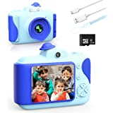 CAMFUN Mini Kids Camera Toys for Toddler, Digital Video Camera with 32GB SD Birthday Gift Toys for 3 4 5 6 7 8 9 10 11 12 Yea