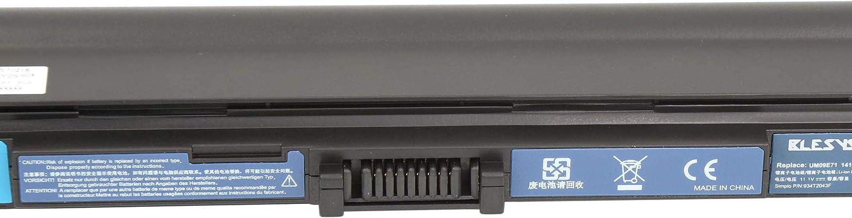 UM09E71 UM09E31 UM09E36 7xinbox 5200mAh 10.8V Repuesto Bater/ía para Acer 934T2039F UM09E56 UM09E32 UM09E78 UM09E70 UM09E51