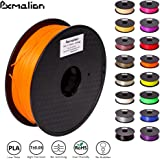 Pxmalion PLA 3D Filament, Orange, 1.75mm, Accuracy +/- 0.03mm, Net Weight 1KG(2.2LB), Compatible with most 3D Printer & 3D Printing Pen