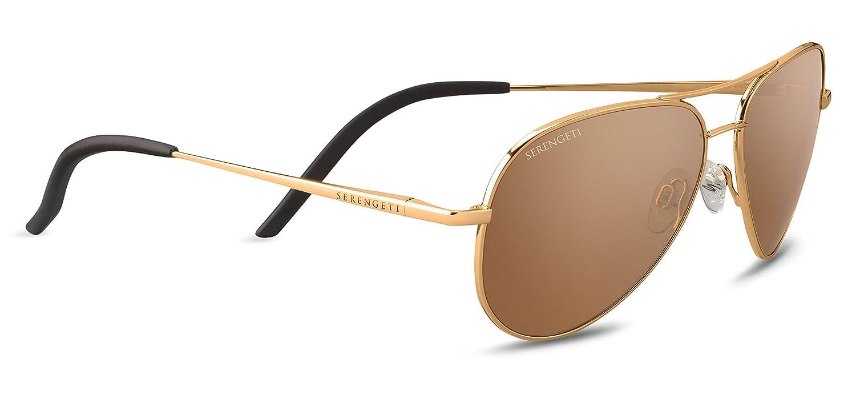 77c0a66dfc1 Serengeti Unisex s Carrara Small Sunglasses Lenses Polarised Drivers Gold