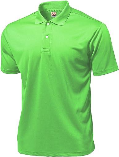 Wundou Men's Sports Dry Light Polo-Shirts P335??Neon Green