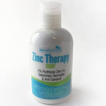 DermaHarmony 2% Pyrithione Zinc (ZnP) Liquid Castile Soap (12 Fl Oz Bottle)