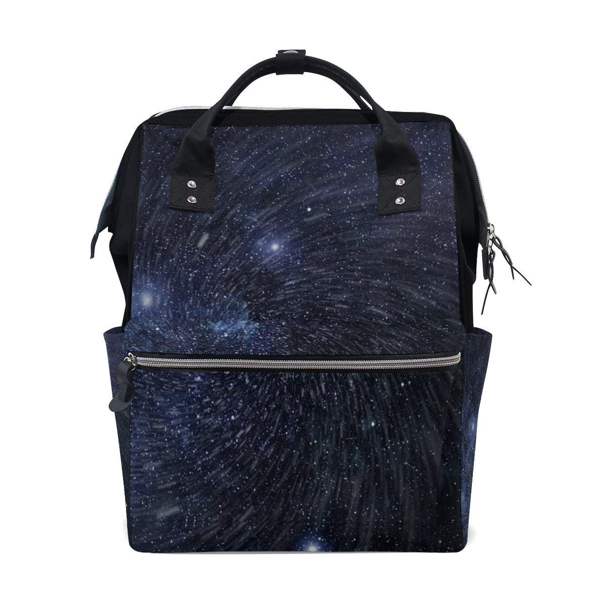 Starry Stars In Space Diaper Bags Mummy Backpack Multi Functions Large Capacity Nappy Bag Nursing Bag for Baby Care for Traveling