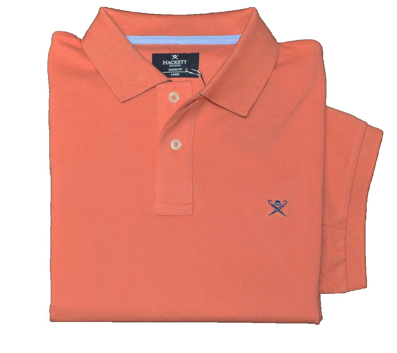 L Hackett London Polo - Homme Orange Orange Clair