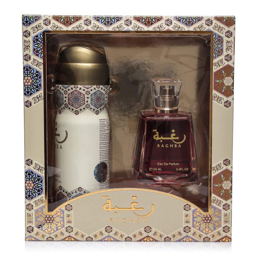 e9906878d Lattafa Raghba EDP 100 ml & Deo Spray 200 ml Gift Set: Amazon.ae