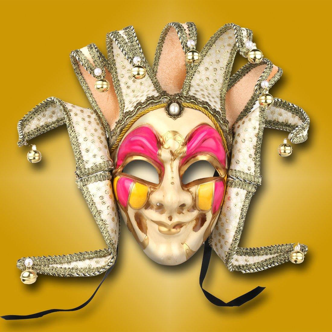 Amazon.com: YUFENG Jester Venetian Mask Masquerade Mardi Gras Wall ...