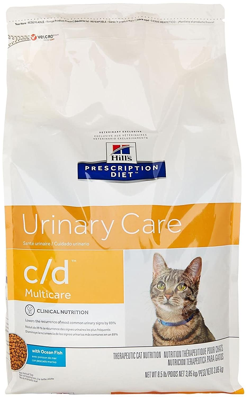 Hill's Prescription Diet C D Multicare Feline Urinary Care Ocean Fish 8.5Lb