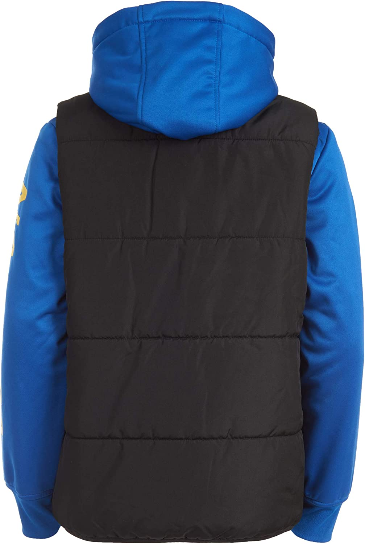Nautica Boys Hybrid Fleece Quilted Jacket