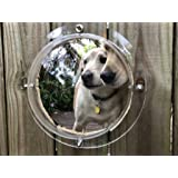 Dog Fence Window, MIXUSP Transparent 2-Instal Rings Porthole Peek Bubble, for Pet, Dog Relieve Anxiety Reduced Barking, Acrylic Dome Clear View for Cat, Child, and More