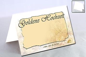 Tischkarten Zur Goldenen Hochzeit Im Hochwertigen Design