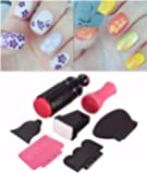 DANCINGNAIL Nail Art Scraper Stamping Plate Double Ended Stamper Image Tool Kit multi-colored small