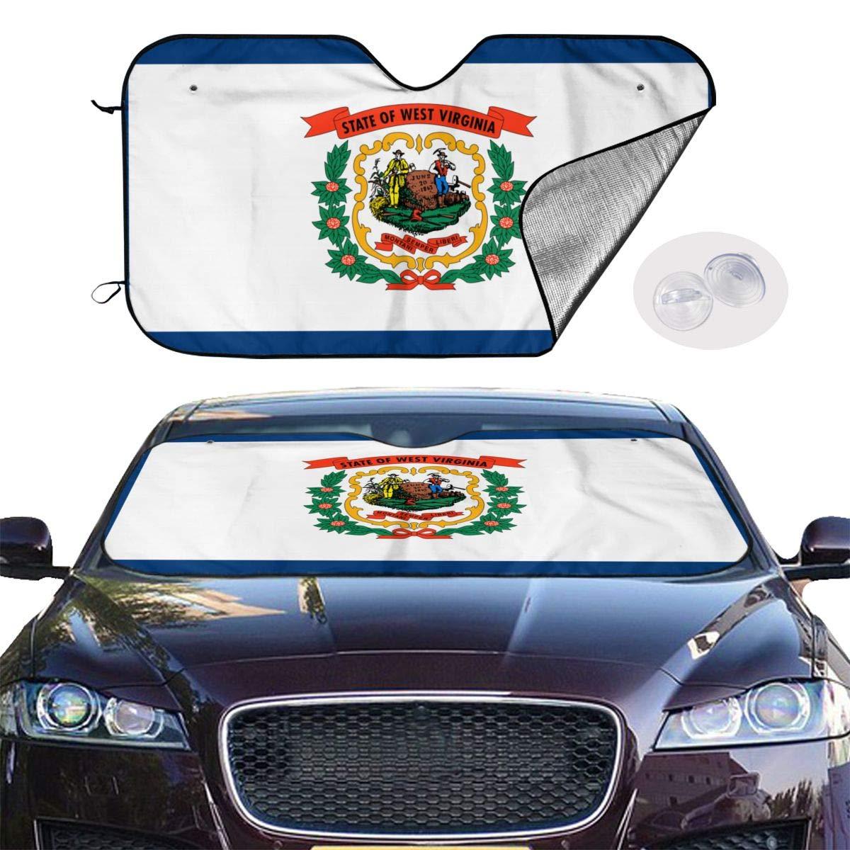Blocks UV Rays Sun Visor Protector,Keeps Your Vehicle Cool PNdeid West Virginia Roots Car Windshield Sun Shade