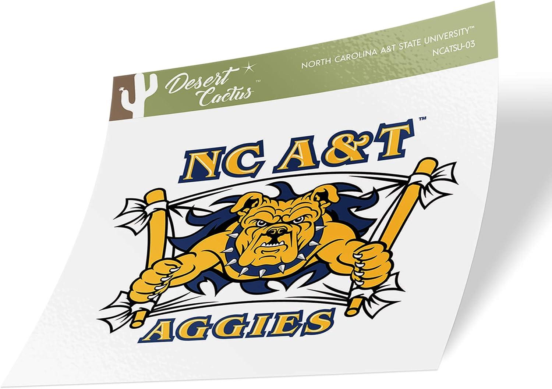 Sticker - 03 North Carolina A /& T State University HBCU Aggies NCAA Vinyl Decal Laptop Water Bottle Car Scrapbook