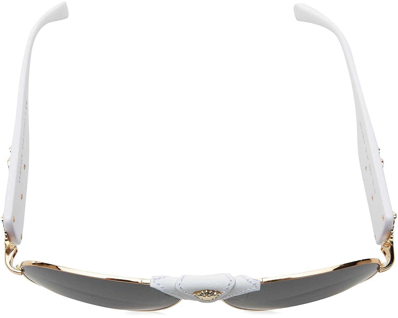 79463dc1eb8 Amazon.com  Versace Women s 0VE2150Q 1341 87 Medusa Aviator Sunglasses