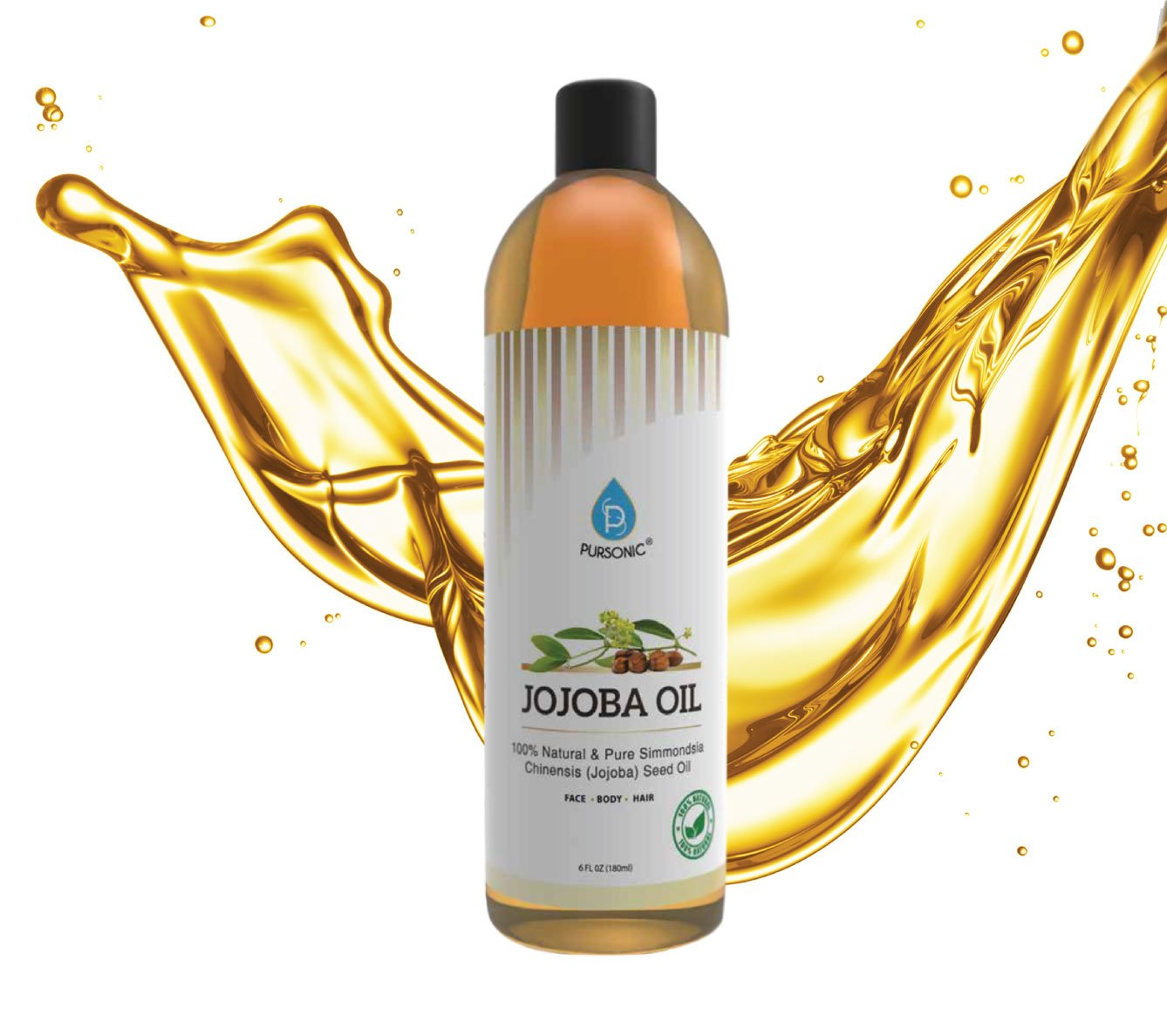 Golden Jojoba Oil 4 Fl Oz By Healing Tree Bath & Body Health & Beauty