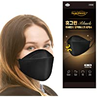 [10Pack] [hueGREEN_Black] - Certified KF94 Face Mask ; Premium 4Layer Filters Disposable Face Mask for Protection from…