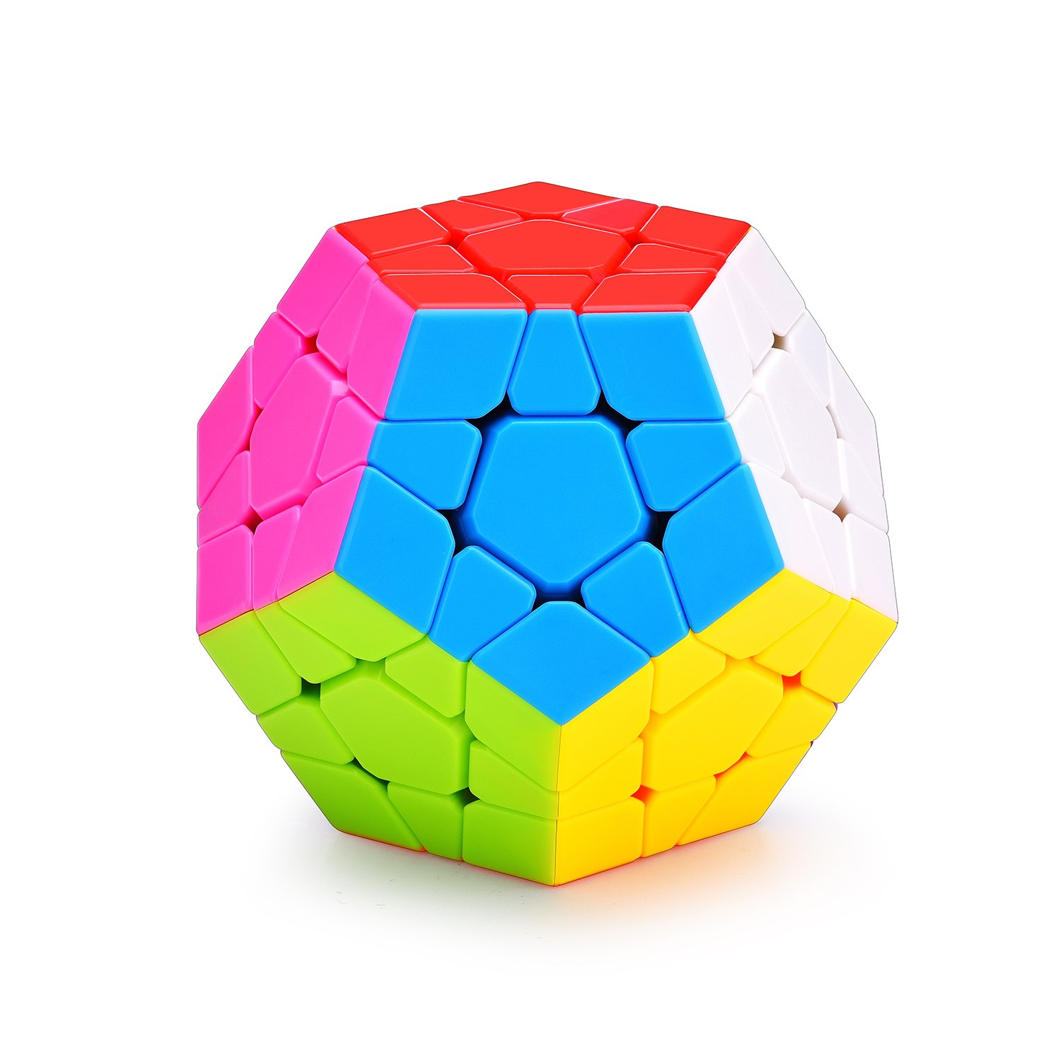 Megaminx Speed Cube | Smooth 12Color Magic Cube Puzzle | 3x3 Megaminx Stickerless Dodecahedron | Brain Teasers Puzzles for Kids