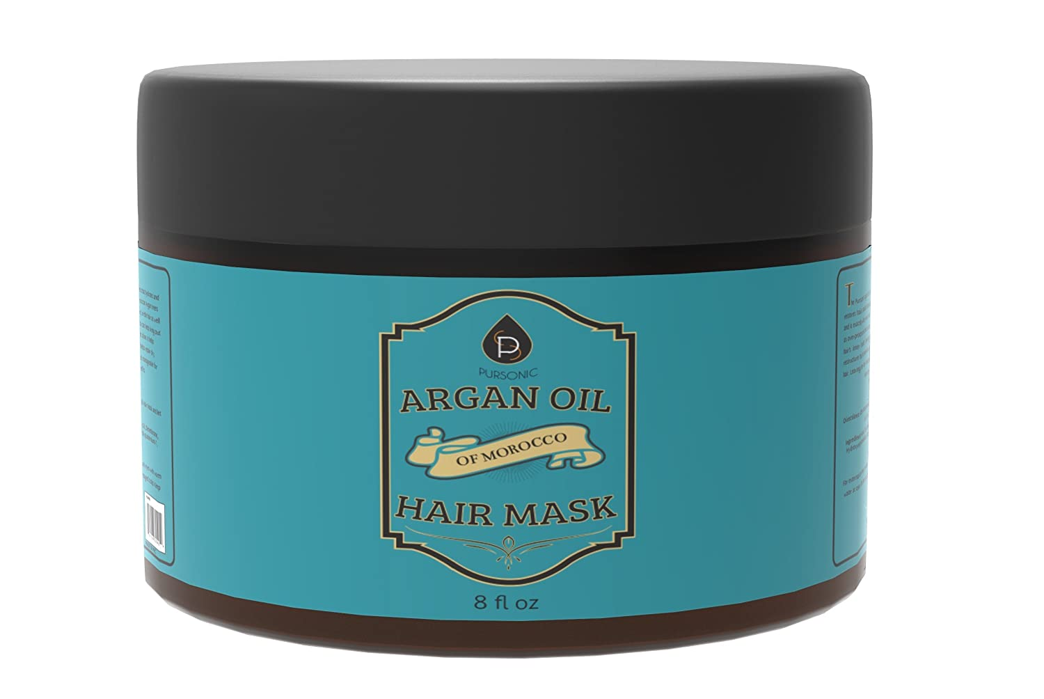 Pursonic Argan Oil Hair Mask of Morocco, 8 Fluid Ounce AOHM8