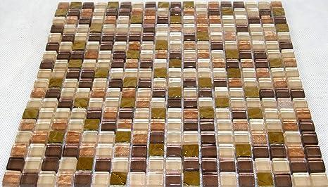 Mosaico in vetro 30 x 30 cm vetro piastrelle lucido mosaico