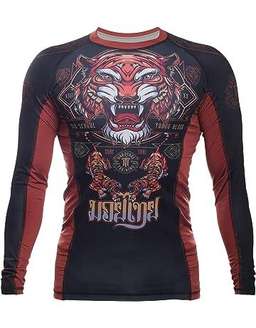 Fortitude Fightwear Langarm MMA Rashguard Kein Gi BJJ Rash Guard f/ür Brazilian