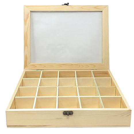 C1 Todo menaje-Caja de madera con 20 compartimentos