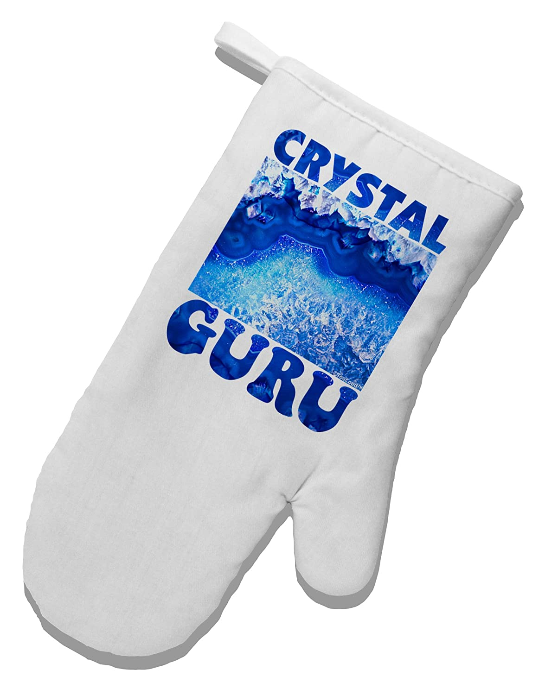 TOOLOUD Crystal Guru White Printed Fabric Oven Mitt
