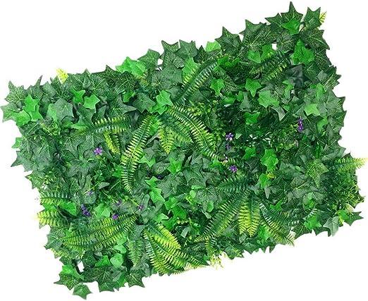 Sookg Moderno Plantas de Pantalla Vertical de Pared Artificial Artificial Falsa 40 * 60cm: Amazon.es: Jardín