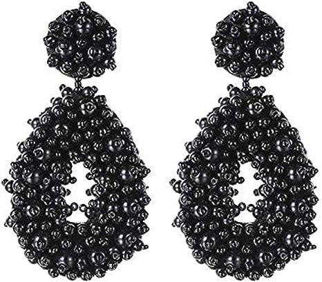 Teardrop Hoop Earrings  Beaded Hoop Earrings  Hoop Earrings  Trendy Earrings  Teardrop Earrings  Statement Earrings