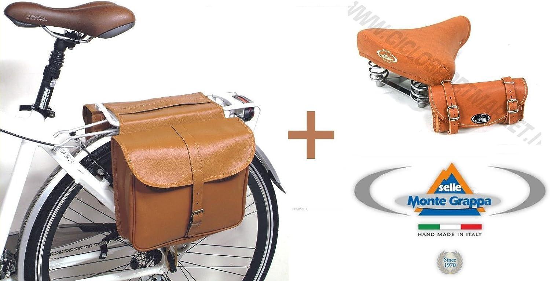 Montegrappa Bolsa Bicicleta Eco Piel Doble + sillín Export con ...
