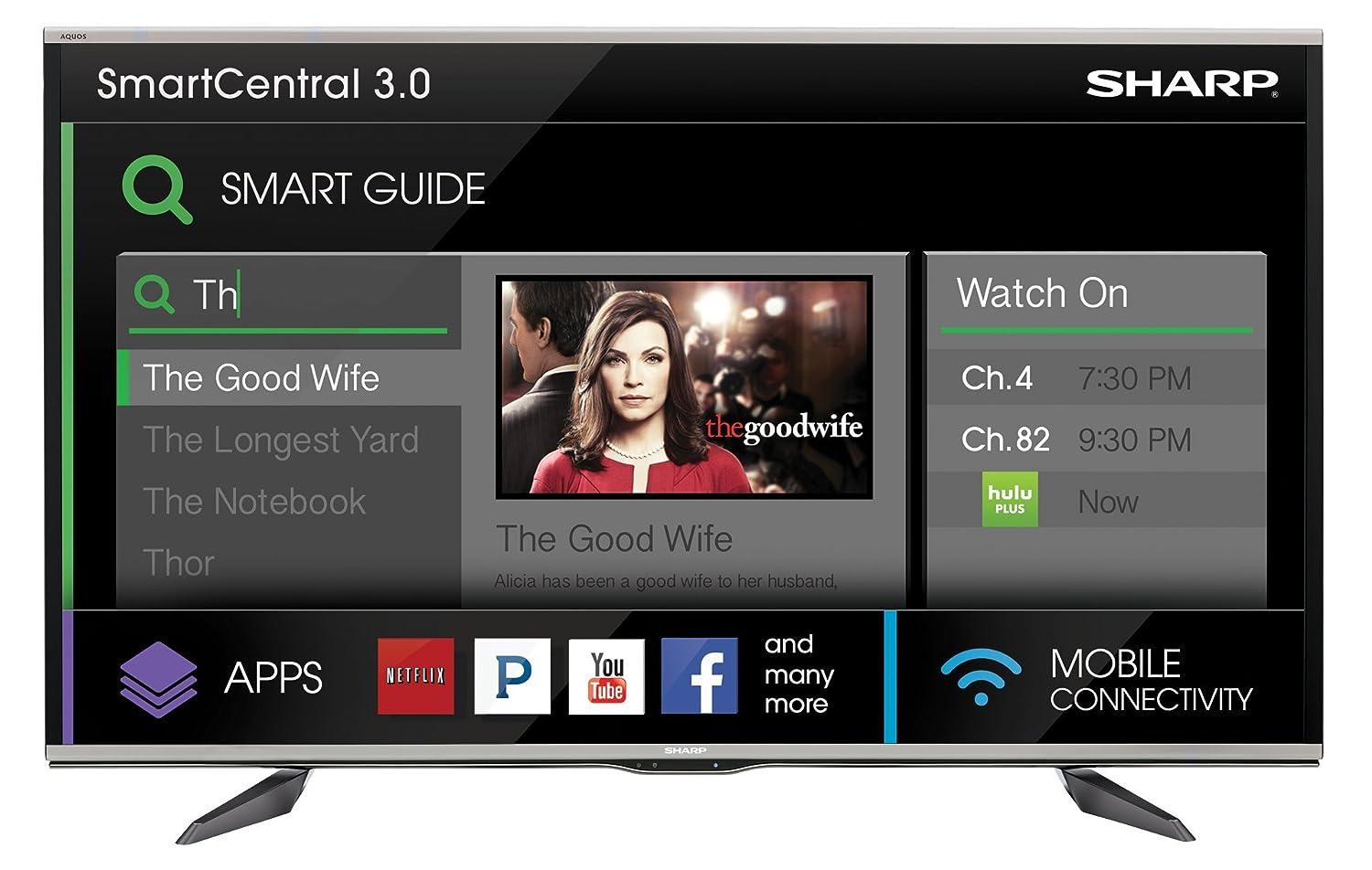 sharp 75 inch 4k tv. amazon.com: sharp lc-80uq17u 80-inch aquos q+ 1080p 240hz 3d smart led tv: electronics 75 inch 4k tv s