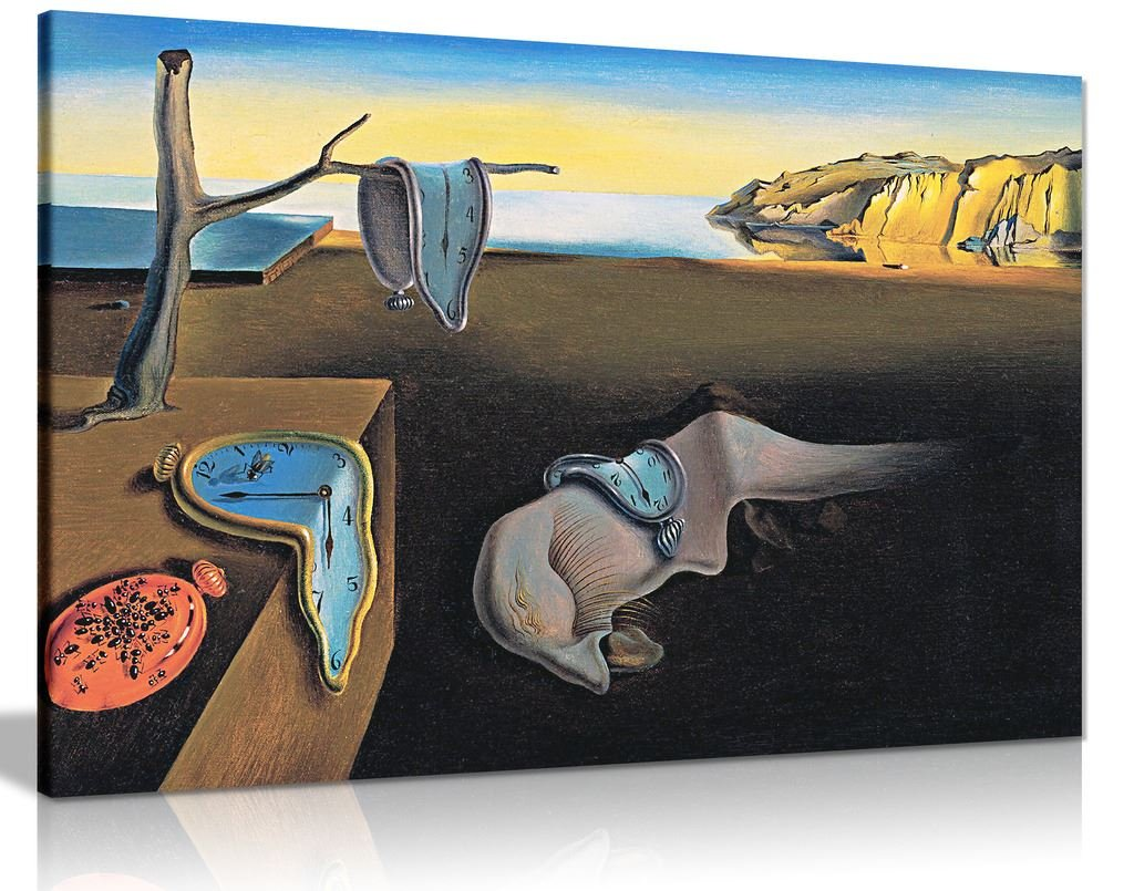 Amazon com salvador dali persistance of time canvas wall art picture print 30x20in posters prints