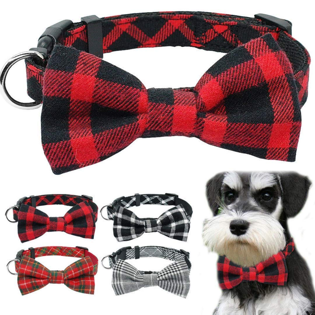 Dog Collar | Dog Bow Ties | Dog Collar | Pet Gift | Pet Collar | Handmade Dog Bowtie | Red Colour |Collar Length 14