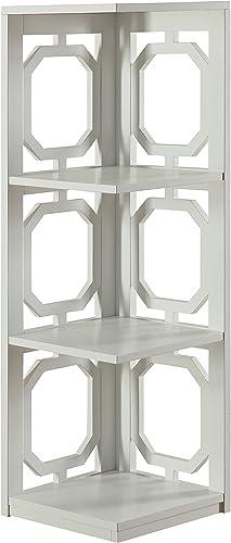Convenience Concepts Omega 3 Tier Corner Bookcase