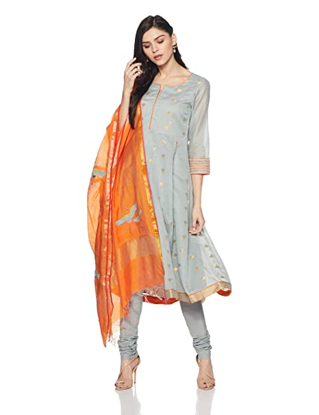 6f03f8f71 BIBA Women s Anarkali Salwar Suit Set  Amazon.in  Clothing   Accessories