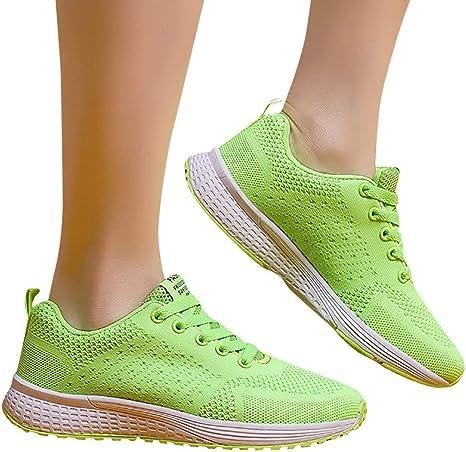 Zapatillas Running Hombre Mujer Zapatos Deporte para Correr Trail Fitness Sneakers Ligero TranspirableVerdeEU36: Amazon.es: Bebé