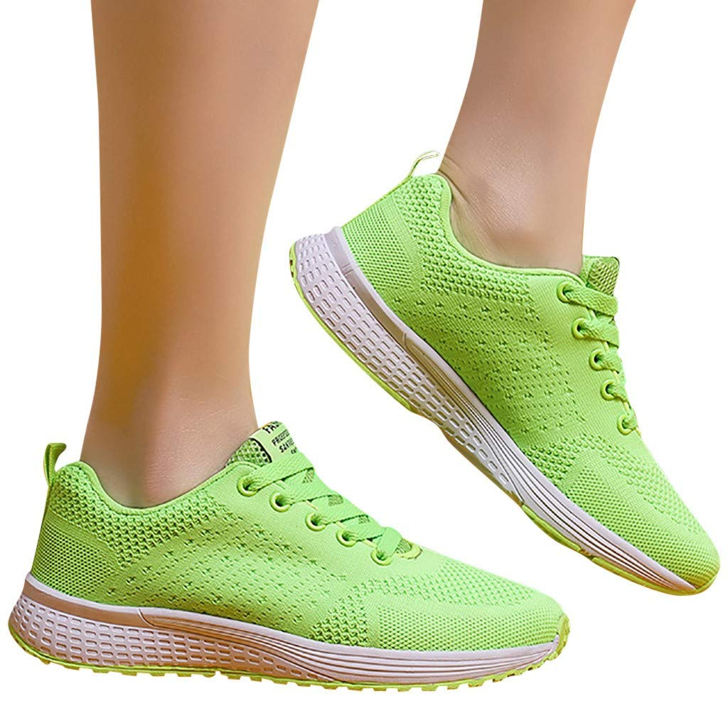 POLPqeD Donna Scarpe da Corsa Sport Ginnastica Classica Stringata Sneaker Palestra Running Sneaker